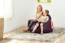 Purple Faux Leather Hippo Pod Beanbag Large Lounge Seat Kids Adults Bean Bag Big
