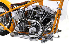 1970-84 Harley Davidson Shovelhead FL Chrome 2 into 1 Exhaust Header Set