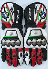 MV Agusta Motorbike Leather Motogp Riding Gloves All Sizes Available