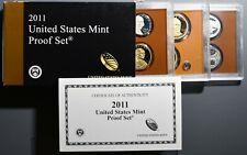 2011 U. S. MINT PROOF SET, WITH BOX, COA & 14 PROOF COINS,  SKU-187