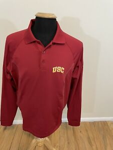 Under Armour NCAA USC Trojans Polo Rugby Pullover Size Adult Large