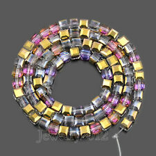 Top Quality 100Pcs Faceted 4mm Square Czech Crystal Loose Beads Jewelry Making