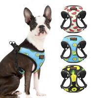 Hundegeschirr und Leine Bulldogge Reflektierend Brustgeschirr Softgeschirr XS-L