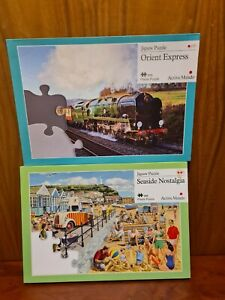 2 x Active Minds Jigsaws for people with dementia. Orient Express & Wheelbarrow