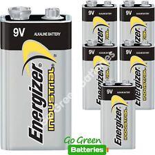 6 x Energizer 9V PP3 Industrial Alkaline Batteries Smoke Alarm LR22 MN1604 Bloc