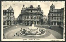 Genova : Piazza De Ferrari -  cartolina viaggiata nel '39