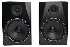 "Rockville APM8B 8"" 2-Way 500W Active/Powered USB Studio Monitor Speakers Pair"