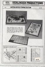 VERLINDEN 34-35 Carton airfield tarmac section scala 1/72