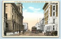 Regina, SK, Canada - 1900s STREET SCENE - 11TH AVE & SCARTH - POSTCARD - TROLLEY