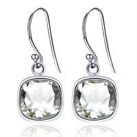 3 Ct Natural Green Amethyst 925 Sterling Silver Dangle Earrings For Women -1869