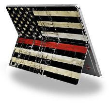 Decal Skin for Surface Pro 4 Painted Faded Cracked Red Line USA American Flag