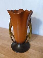 "Roseville Brown PINE CONE 491-10"" Vase (10 3/8"")"