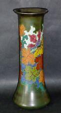 Tall ANTIQUE c1920 GOUDA HAND PAINTED Vase ARNHEM artist initialed Dutch potter