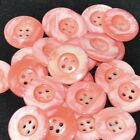 Mercerie lot de 5 boutons plastique rose marbré 22mm button