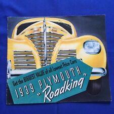 "1939 PLYMOUTH ""ROADKING"": SALES BROCHURE"