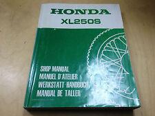 Werkstatthandbuch XL 250 S (1978)