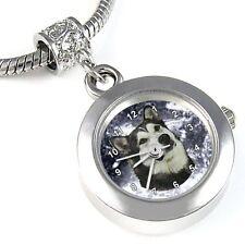 Alaskan Malamute Silver Quartz Watch European Bracelet Spacer Charm Bead EBA71