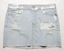 7 For All Mankind Bleached Marilis 2 Denim Skirt (24) AU9088202C