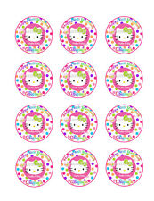 HELLO KITTY Personalized Edible Photo CUPCAKE Image Icing Decoration Toppers