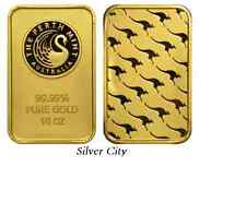 10 OUNCE PERTH MINT KANGAROO .9999 FINE GOLD BAR 10OZ.