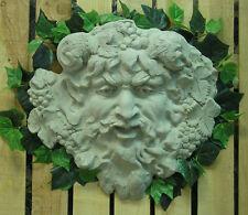 Green Man Zeus Wall Fountain Plaque Latex Fiberglass Production Mold Concrete