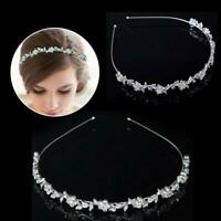 Crystal Rhinestone Wedding Bridal Diamante Tiara Headband Hair Band Clasp G