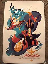Disney Aladdin Robin Williams Movie Poster Tom Whalen Mondo Art Print Blu-ray