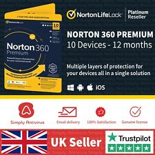 Norton 360 Premium 2020 | 10 Devices | 1 Year + Secure VPN *5 Min Email Delivery