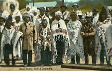 Indian Chiefs British Columbia Native North American Indian Postcard