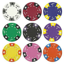 NEW 400 Pc Ace King 14 Gram Suited Clay Poker Chips Bulk Lot Mix and Match Color
