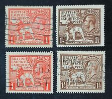 CKStamps: Great Britain Stamps Collection Scott#185 203 204 Used #186 Mint H OG
