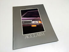 1992 Plymouth Acclaim Brochure