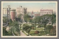 [60228] 1908 POSTCARD A CORNER OF GRAND CIRCUS PARK IN DETROIT, MICHIGAN