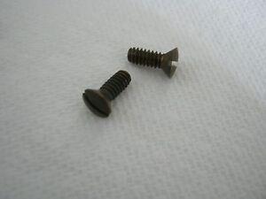 "10-24 x 1/2"" - Qty 2 - BRASS OVAL Head Machine Screws - NEW - AGED Finish"