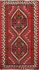 Vintage Hand-Knotted Abadeh Geometric Wool Area Rug Oriental Kitchen Carpet 4x5