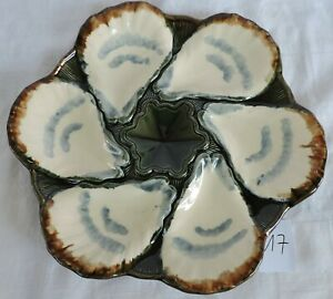 French Longchamp Majolica oysters plate shells /17