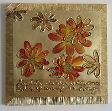 Quadro su tela Salvadori Arte Fiori su base oro gold t1