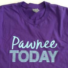 Parks and Recreation Pawnee Today Large Purple Shirt NBC TV Show Promo