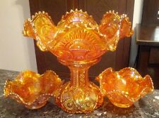 Imperial Hobstar & Arches / Twins Marigold fruit bowl & berry bows