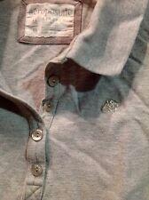 Girl's Aeropostale Polo Shirt Gray Size Medium M Short Sleeve
