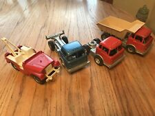 Lot of 4 Vintage Hubley Dump Truck Tow Jeep Pressed Steel