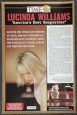 Lucinda Williams America's Best Songwriter Time Magazine 2002 PROMO POSTER