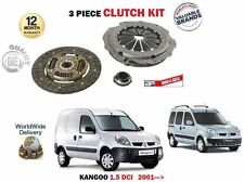 FOR RENAULT KANGOO 1.5 DCI 2002->NEW 3 PIECE CLUTCH KIT PLATE COVER BEARING SET