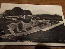 Vtg Postcard Old SARUM Castle Remains Salisbury Wiltshire Real Photo military