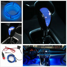 2M Blue EL-Wire Fluorescent Neon Cold Light+LED Touch Activated Gear Shift Knob