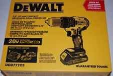DeWALT DCD777C2 20-Volt 1/2-Inch Lithium-Ion Brushless Compact Drill Driver NEW