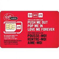 6 X Virgin Sim Card Regular/Micro/Nano FREE SHIPPING SAME DAY FROM CANADA!