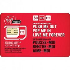 Virgin Sim Card Regular/Micro/Nano SHIPPING SAME DAY CANADA! PREPAID/POSTPAID