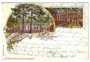 GERMANY, GRUSS AUS  SAATWINKEL,  RESTAURANT BLUMSHOP 1897