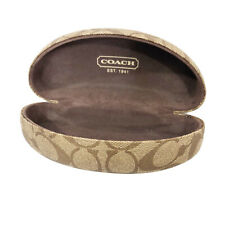 Coach Womens Sunglasses Holder Case Brown Logo Patterned print hard shell protec